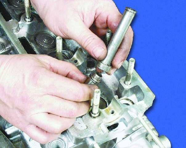 Фото №17 - замена направляющих втулок клапанов ВАЗ 2110
